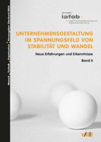 """Buchcover """"Unternehmensgestaltung im Spannungsfeld von Stabilität und Wandel"""""""
