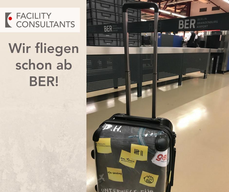 Bild mit Trolley von Facility Consultants am Flughafen