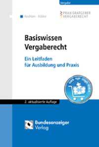 "Buchcover ""Basiswissen Vergaberecht"""