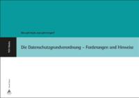 """Buchcover """"Die Datenschutzgrundverordnung"""""""