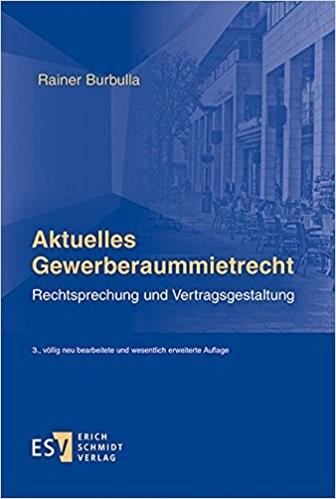 """Buchcover """"Aktuelles Gewerberaummietrecht"""""""