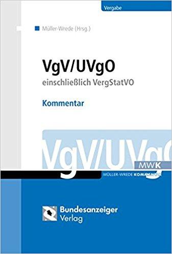 Buchcover von VgV/UVgO einschließlich VergStatVO